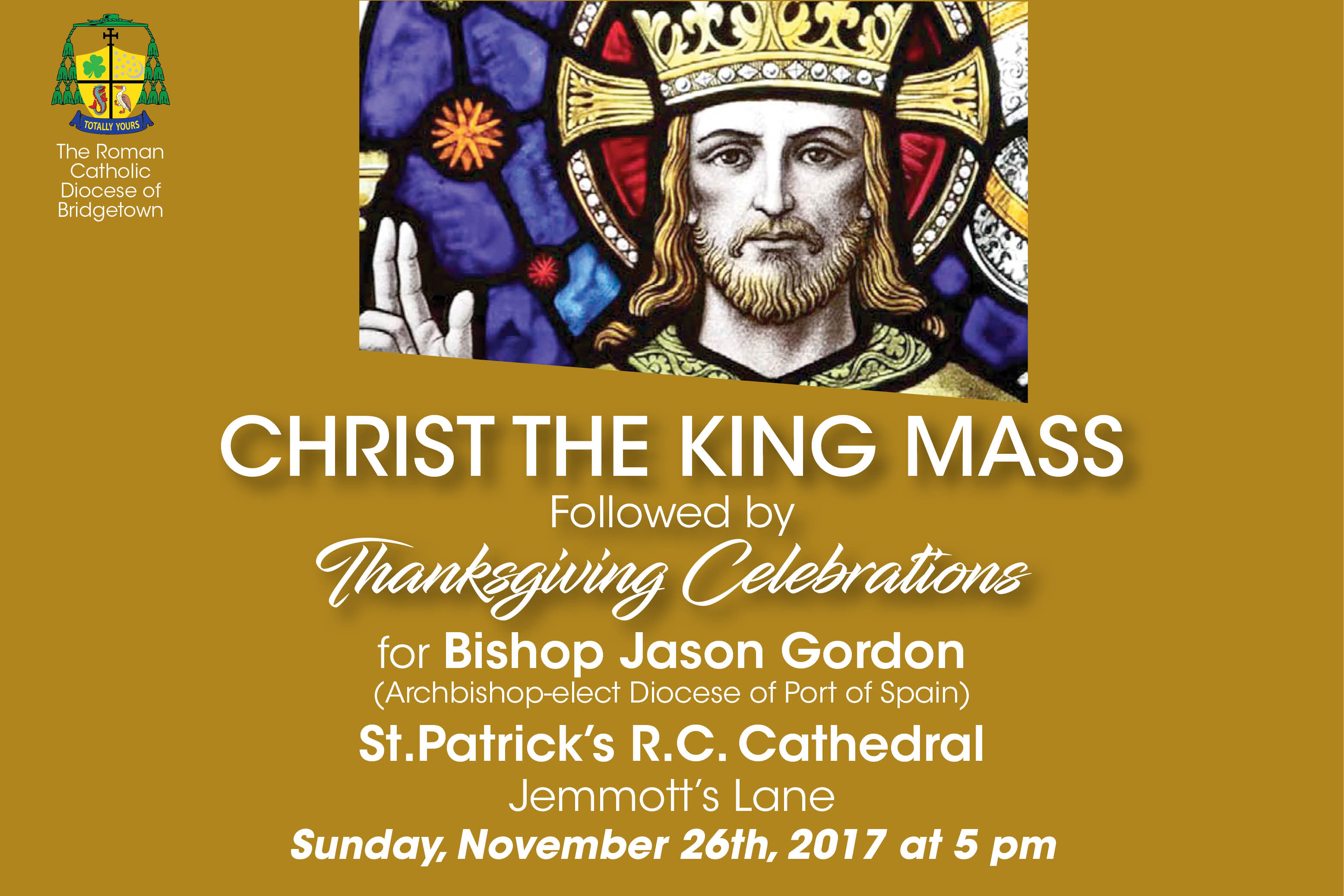 Feast of Christ The King Followed By Thanksgiving Celebrations For Bishop Jason Gordon