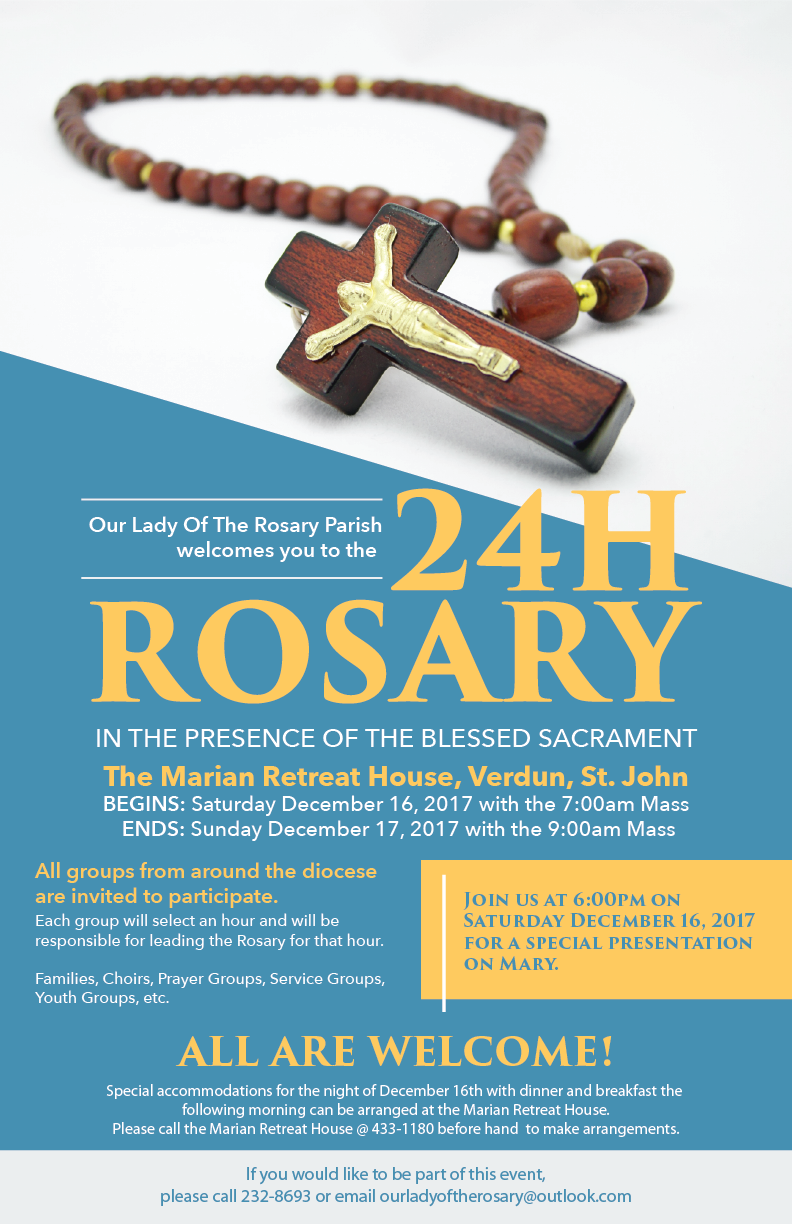 24-Hour Rosary in the Presence Of The Blessed Sacrament