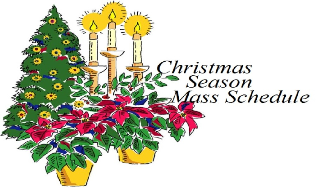 Roman Catholic Diocese of Bridgetown Holiday Mass Schedule