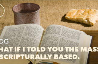 What if I told you the Mass is Scriptural?